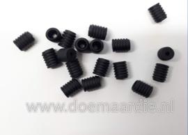Stoppers elastiek/type 1, zwart per 10