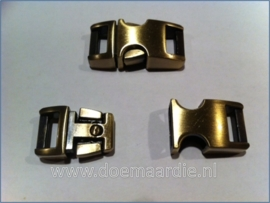 Buckle anti brass, klikgesp, middel. (5/8)
