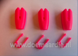 Touwklem, riemklem, roze, 6 mm.