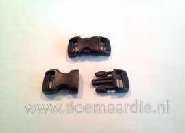 Buckle mini, klikgesp, zwart, doorvoer 11 mm.