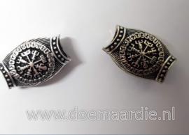 Viking runen kompas, licht goudkleur