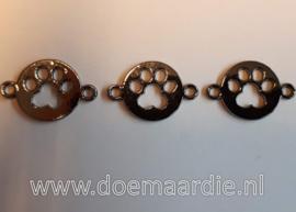 Tussenzetsel hondenpoot, black nickel kleur.