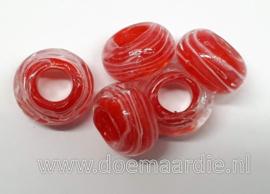 Glaskraal, rood met wit