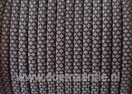 Paracord 550 Diamond grey/black, vanaf 29 cent per meter