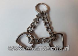 Sprenger triangel ketting, met D ringen. RVS