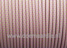 Paracord 550 , Lavendel Roze Geel Diamond, vanaf 27 cent