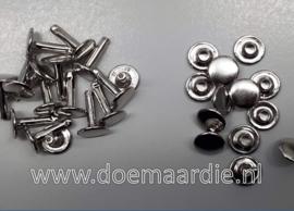 Holniet, silver, 10 mm bij 13. Per 10 of 100 paar.