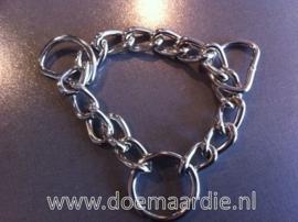 Half-check ketting / triangel ketting voor het maken van een hondenhalsband.