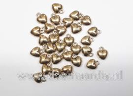 Hartjes, oud goud kleurig per 30