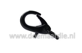 Karabijn haak zwart, 60 mm.