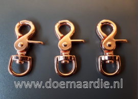 Trigger musketon, 62 mm, rose goud.