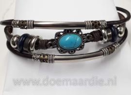 Prachtige armband, turquoise concho.