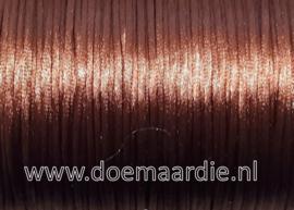 Satijn koord, warm brown, 90 meter, 1,5 mm