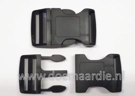 Buckle , XXX Large zwart, doorvoer 39 mm.