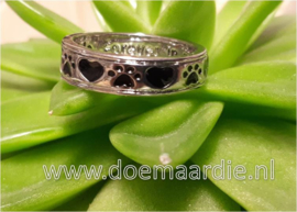 Ring, always by my side met pootjes en hartje.