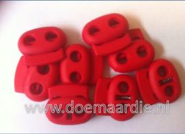 Koordstopper, 2 gaten, ovaal, rood...