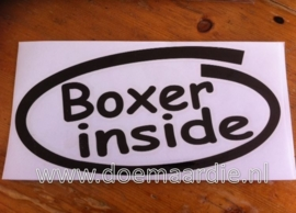 Boxer inside sticker, verschillende kleuren.