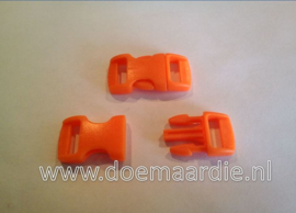 Buckle mini, klikgesp, oranje, doorvoer 11 mm.