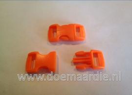 Buckle mini, klikgesp, oranje, doorvoer 11 mm