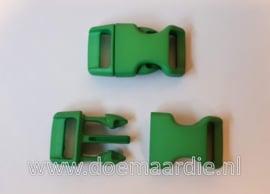 Buckle middel, klikgesp, groen, doorvoer 16 mm.