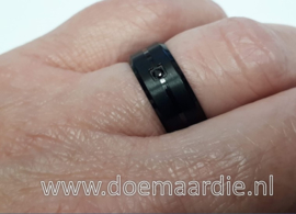 Ring, RVS, zwart