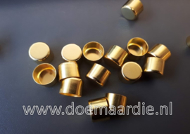Metalen koord eind. 12 mm Gold.