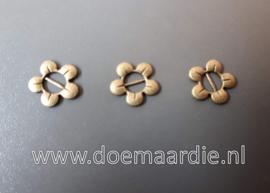 Schuifkraal bloem, brons, per 10.