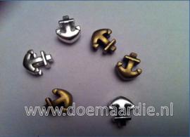 Anker, zilver of bronskleur.