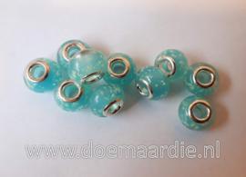 Murano glaskraal, zeeblauw.