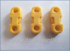 Plastic Breakaway Buckle, geel.