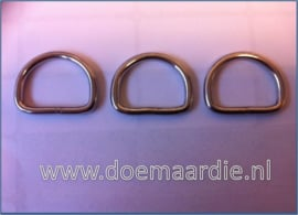 D ring RVS, 30 mm x 4,00.