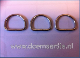 D ring RVS, 25 mm x 4,00. ook per 50.