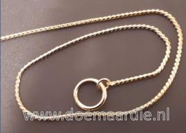 Show halsband, snake ketting. gold, verschillende maten.