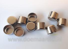Metalen koord eind. Zilver, 8 mm.