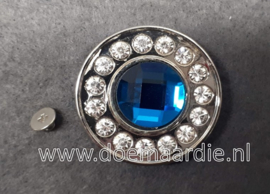 Luxe XXL concho met veel bling. turquoise blauw, blauw.