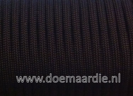 Paracord, 425 Black 6 / 15 / 30 meter.