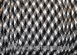 Paracord 550 Black White, vanaf 29 cent per meter.