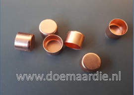 Metalen koord eind. Rose gold, 6 mm