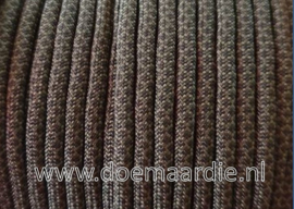 Paracord 550 Black Army, Diamond, vanaf 29 cent per meter.