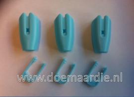 Touwklem, riemklem, blauw 8-10 mm.