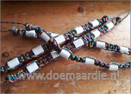 Rust en balans, keramiek armbanden. autisme awareness. 15 tot 18 cm.