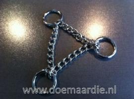 Triangel ketting, 20 cm. O ringen.