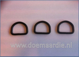D ring mat zwart, 26 mm x 4,00.