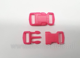 Buckle , klikgesp, small, roze, doorvoer 10 mm.