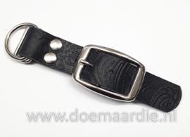 Adapter 25 mm, Buffel leer, motief zwart