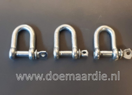 D sluiting, verzinkt.  5 mm