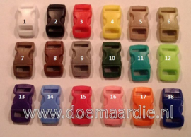 Buckle mini, klikgesp, roze, doorvoer 11 mm.