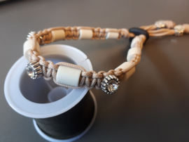 Tekenhalsband ong 23 cm. mocca special edition