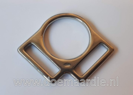 Halsterring, 2 voudig. 25 mm. RVS