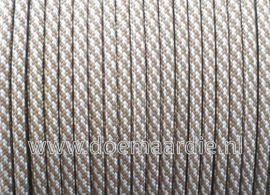 Paracord, 550 type 3,  spiral coyote silver, vanaf 27 cent